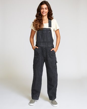 1 Lilo Straight Denim Overalls Black W302VRLI RVCA