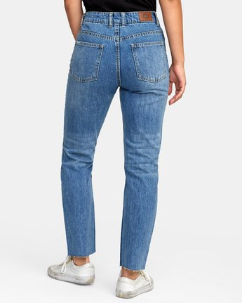3 Piper High Rise Tapered Jeans Blue W302VRPI RVCA