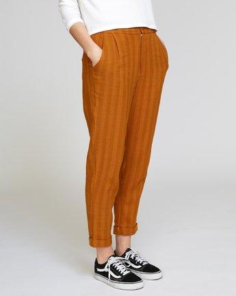 3 Scout Striped Trouser Orange W302VRST RVCA
