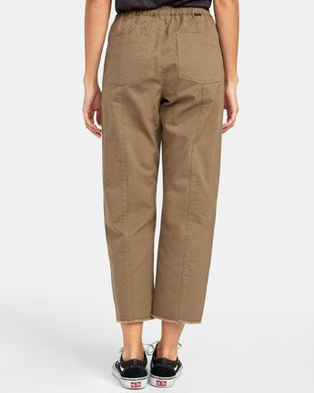 1 OUT GOING HIGH RISE CROPPED TROUSER Green W3031ROG RVCA