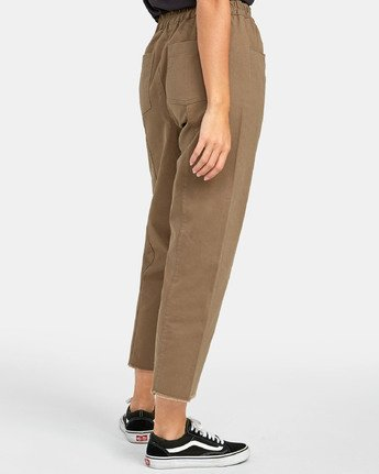 4 OUT GOING HIGH RISE CROPPED TROUSER Green W3031ROG RVCA