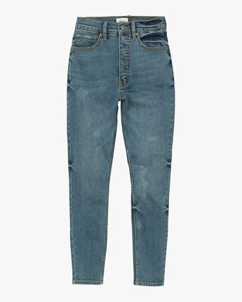 7 Solar Ultra High Rise Denim Jean Blue W303QRSO RVCA
