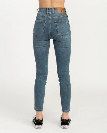 4 Solar Ultra High Rise Denim Jean Blue W303QRSO RVCA