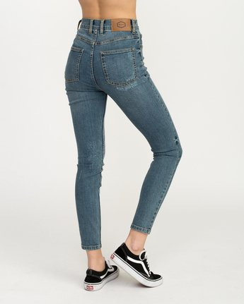 5 Solar Ultra High Rise Denim Jean Blue W303QRSO RVCA