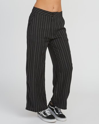 6 Power High Rise Twill Pants Black W303SRPO RVCA