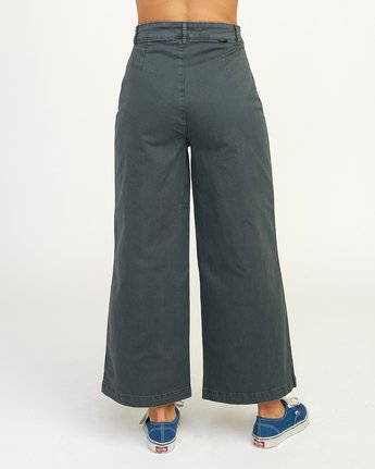 3 Niku High Waist Cropped Trouser Grey W303TRNI RVCA