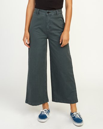 0 Niku High Waist Cropped Trouser Grey W303TRNI RVCA
