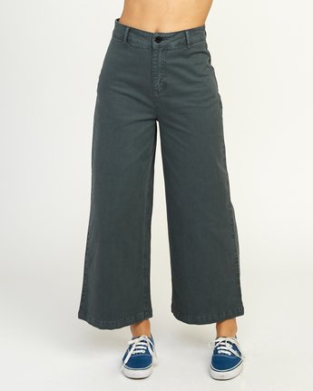 1 Niku High Waist Cropped Trouser Grey W303TRNI RVCA