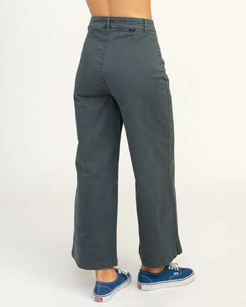 4 Niku High Waist Cropped Trouser Grey W303TRNI RVCA