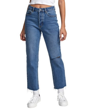 9 Holli High Rise Straight Denim White W303VRHO RVCA