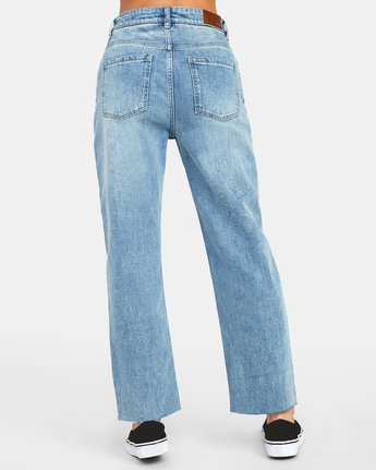 4 Holli High Rise Straight Denim Blue W303VRHO RVCA