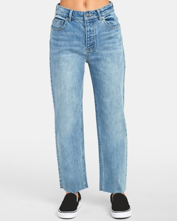 0 Holli High Rise Straight Denim Blue W303VRHO RVCA