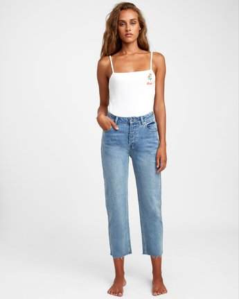 1 Holli High Rise Straight Denim Blue W303VRHO RVCA