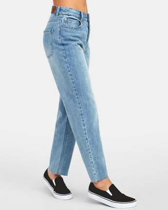 2 Holli High Rise Straight Denim Blue W303VRHO RVCA