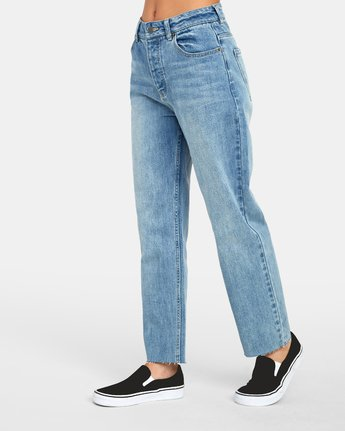 3 Holli High Rise Straight Jeans Blue W303VRHO RVCA