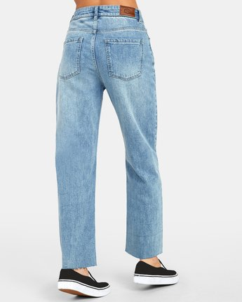 5 Holli High Rise Straight Denim Blue W303VRHO RVCA