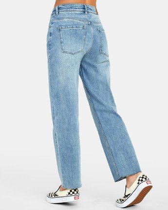 6 Holli High Rise Straight Jeans Blue W303VRHO RVCA