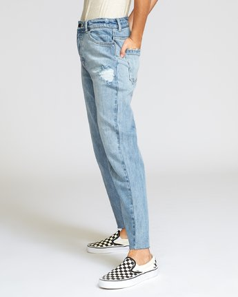 1 Holli High Rise Straight Jeans Grey W303VRHO RVCA
