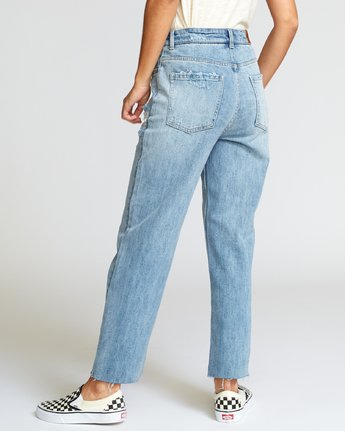 2 Holli High Rise Straight Jeans Grey W303VRHO RVCA