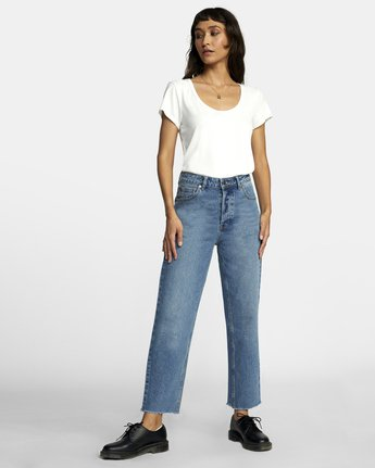 1 Holli High Rise Straight Denim White W303VRHO RVCA