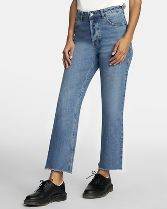 4 Holli High Rise Straight Denim White W303VRHO RVCA