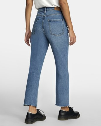 5 Holli High Rise Straight Denim White W303VRHO RVCA