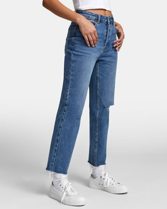 8 Holli High Rise Straight Denim White W303VRHO RVCA