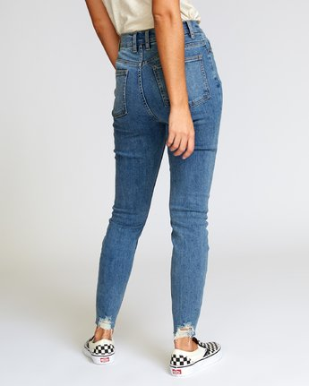 3 Solar High Rise Jeans Blue W303VRSO RVCA