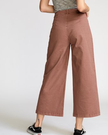 4 Niku High Waist Cropped Trouser Brown W305VRNI RVCA