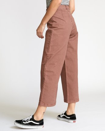 2 Niku High Waist Cropped Trouser Brown W305VRNI RVCA