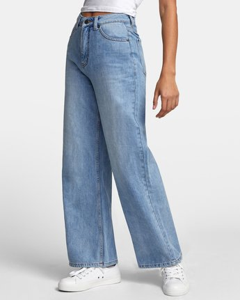 3 COCO HIGH RISE RELAXED DENIM Blue W3063RCO RVCA