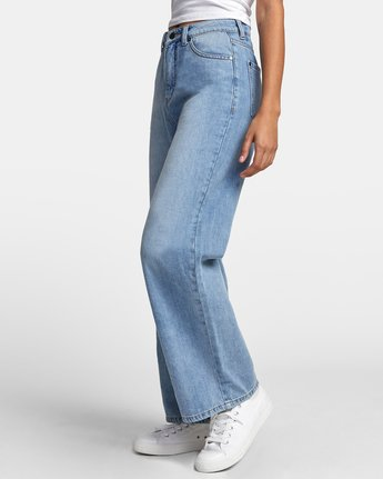 5 COCO HIGH RISE RELAXED DENIM Blue W3063RCO RVCA