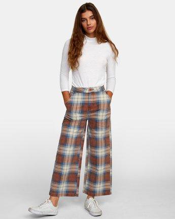 6 Niku Plaid High Rise Trousers  W306WRNP RVCA