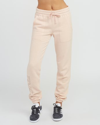 1 Pinner Fleece Sweat Pant Pink W322SRPI RVCA