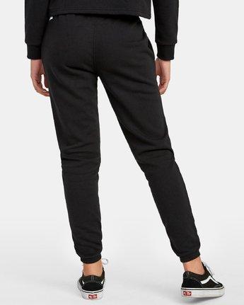 3 Lateral RVCA Sweatpants Black W324WRLA RVCA