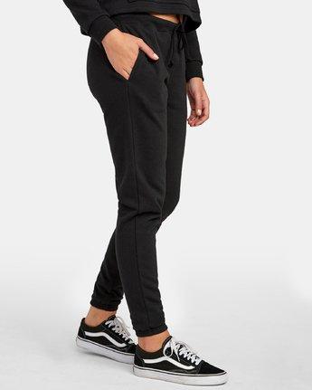 5 Lateral RVCA Sweatpants Black W324WRLA RVCA