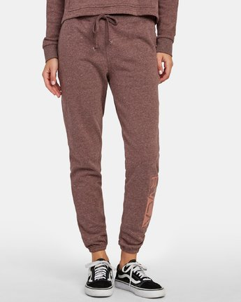 0 Lateral RVCA Sweatpants Brown W324WRLA RVCA