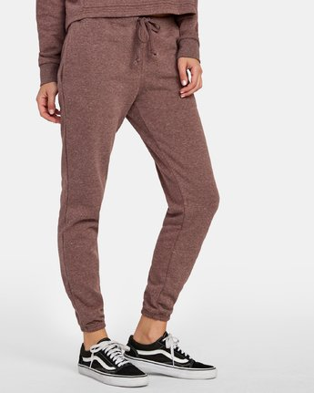4 Lateral RVCA Sweatpants Brown W324WRLA RVCA