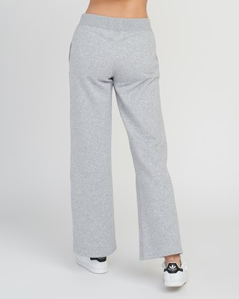 3 Stakeit Wide Leg Fleece Pant Grey W352SRST RVCA