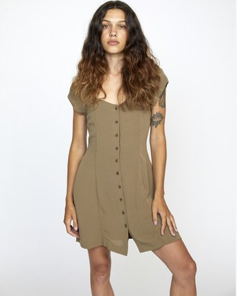 Interruption - Cap Sleeve Dress for Women  W3DRRHRVP1