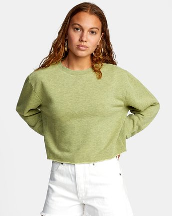 Kingston - Cropped Sweatshirt for Women  W3FLRBRVP1