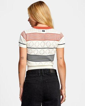 Jasper - Short Sleeve Knitted Top for Women  W3JPRBRVP1