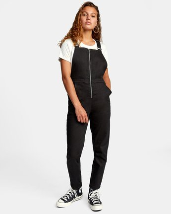Recession Collection Moonshine - Zip Front Dungarees for Women  W3ONRJRVP1