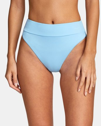 2 Solid High Rise - Mini Bikini Bottoms for Women Blue W3SBRFRVP1 RVCA