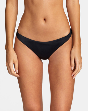 2 Solid Medium - Medium Bikini Bottoms for Women Black W3SBRORVP1 RVCA
