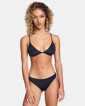 1 Solid Medium - Medium Bikini Bottoms for Women Black W3SBRORVP1 RVCA