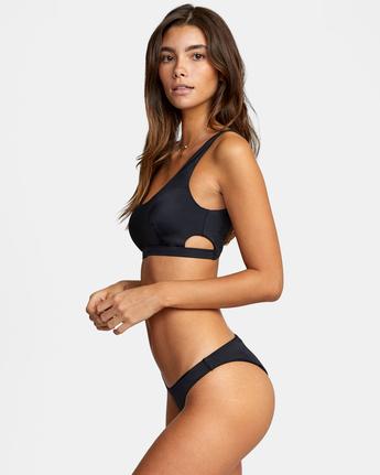 3 Solid Medium - Medium Bikini Bottoms for Women Black W3SBRORVP1 RVCA