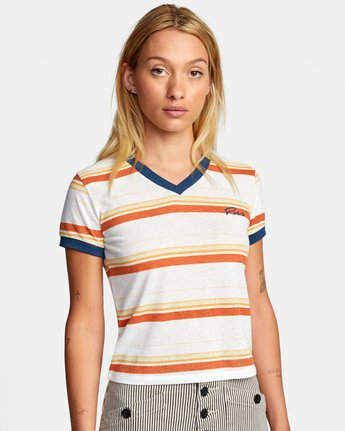 Big Distance Stripe - T-Shirt for Women  W3SSRCRVP1