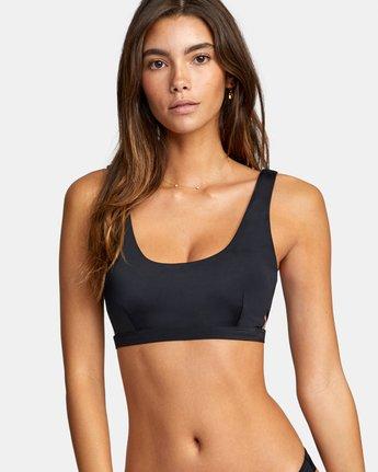 2 Solid Bralette - Bikini Top for Women Black W3STRBRVP1 RVCA