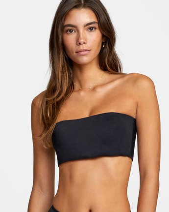 3 Solid Bandeau - Bikini Top for Women Black W3STRMRVP1 RVCA
